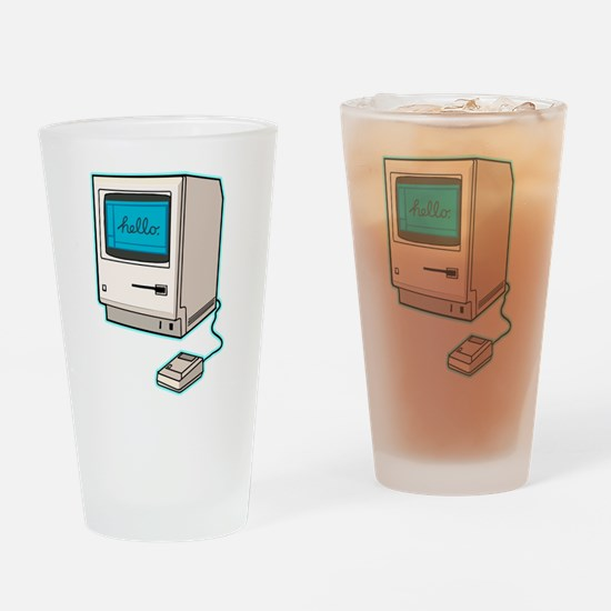 Cute Apple computer Drinking Glass