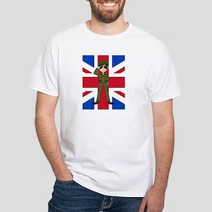 British Army Green Beret White T-Shirt