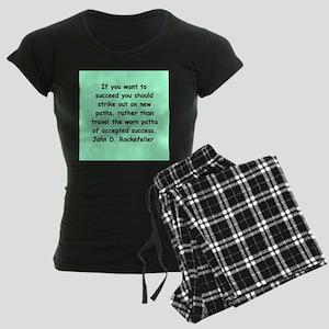 john d rockefeller Women's Dark Pajamas