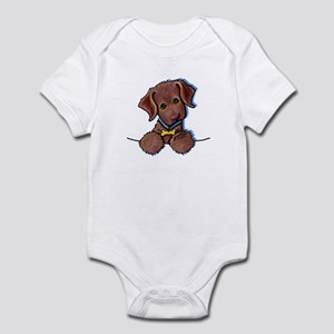 Chocolate Lab Infant Creeper