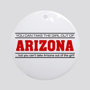 'Girl From Arizona' Ornament (Round)