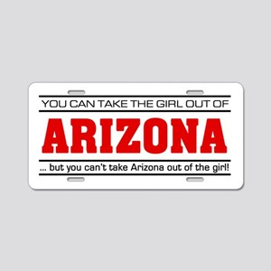 'Girl From Arizona' Aluminum License Plate