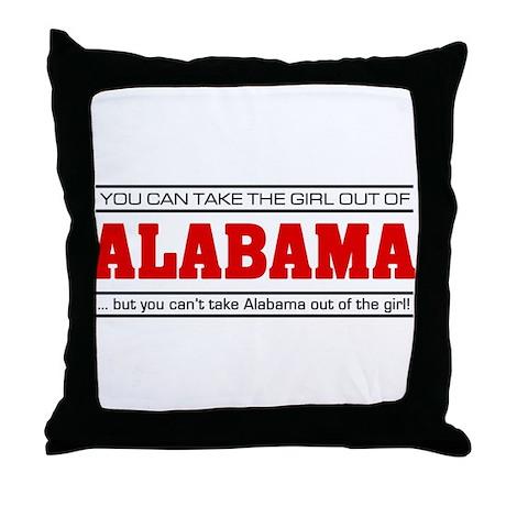 'Girl From Alabama' Throw Pillow