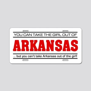 'Girl From Arkansas' Aluminum License Plate