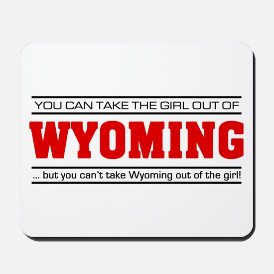 'Girl From Wyoming' Mousepad