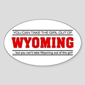 'Girl From Wyoming' Sticker (Oval)