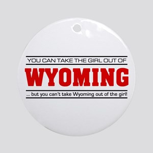 'Girl From Wyoming' Ornament (Round)