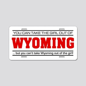 'Girl From Wyoming' Aluminum License Plate