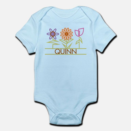 Quinn with cute flowers Infant Bodysuit