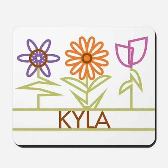 Kyla with cute flowers Mousepad