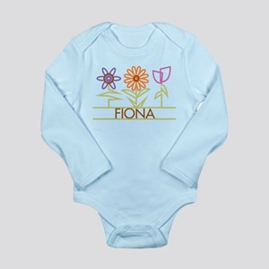 Fiona with cute flowers Long Sleeve Infant Bodysui