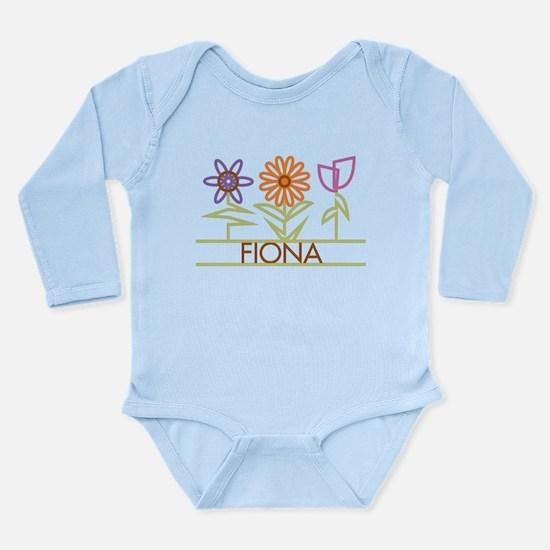 Fiona with cute flowers Long Sleeve Infant Bodysui