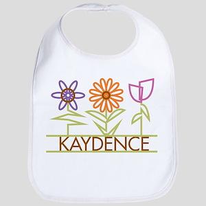 Kaydence with cute flowers Bib