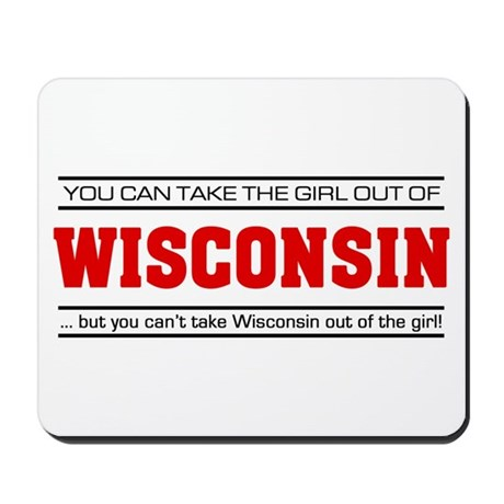'Girl From Wisconsin' Mousepad