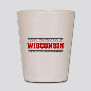 'Girl From Wisconsin' Shot Glass