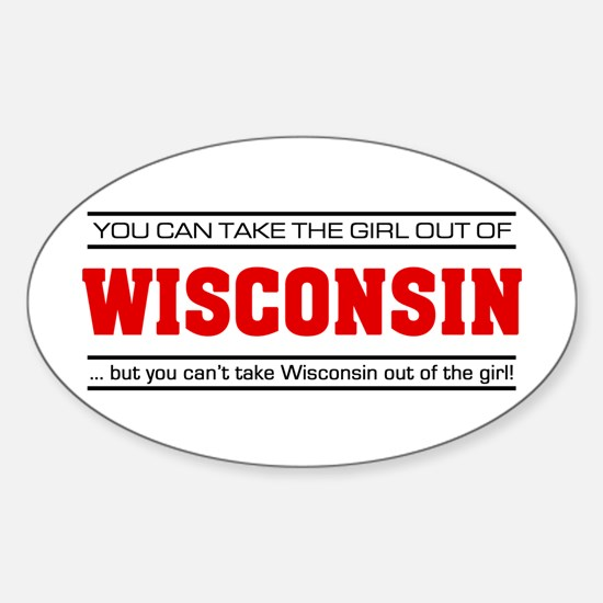 'Girl From Wisconsin' Sticker (Oval)