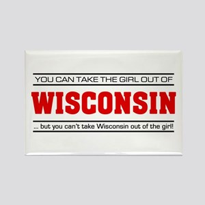 'Girl From Wisconsin' Rectangle Magnet
