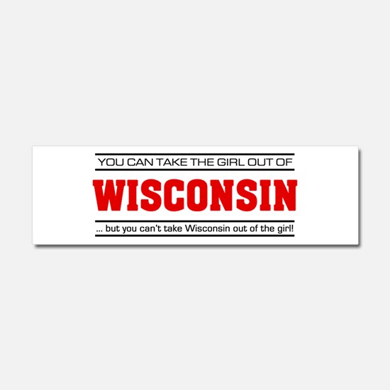 'Girl From Wisconsin' Car Magnet 10 x 3
