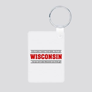 'Girl From Wisconsin' Aluminum Photo Keychain