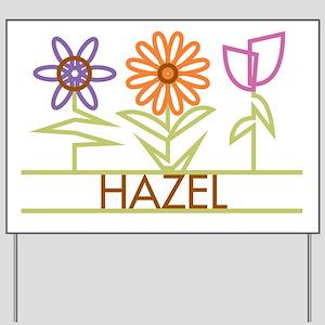 Hazel with cute flowers Yard Sign