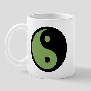 Ying Yang Green Mug
