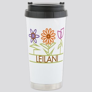 Leilani with cute flowers Stainless Steel Travel M