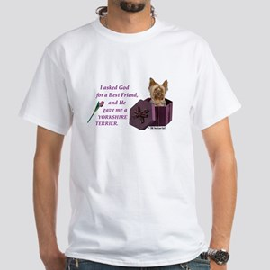 I Asked God -Shirt -Yorkie,PC T-Shirt