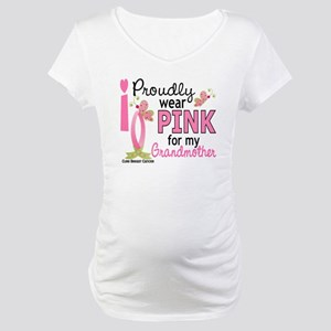 I Wear Pink 27 Breast Cancer Maternity T-Shirt
