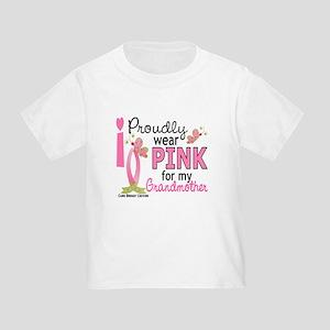 I Wear Pink 27 Breast Cancer Toddler T-Shirt