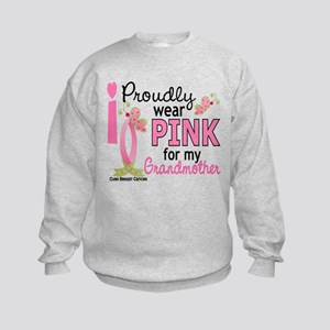I Wear Pink 27 Breast Cancer Kids Sweatshirt