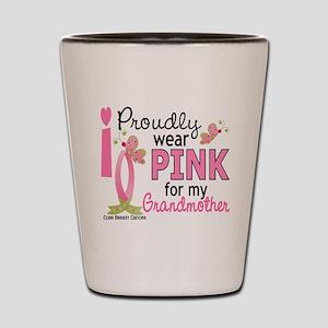 I Wear Pink 27 Breast Cancer Shot Glass