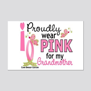I Wear Pink 27 Breast Cancer Mini Poster Print