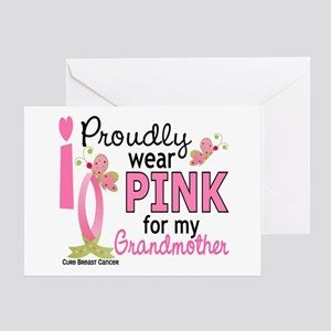I Wear Pink 27 Breast Cancer Greeting Card