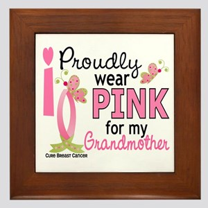 I Wear Pink 27 Breast Cancer Framed Tile
