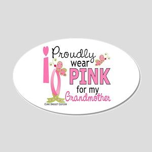 I Wear Pink 27 Breast Cancer 22x14 Oval Wall Peel