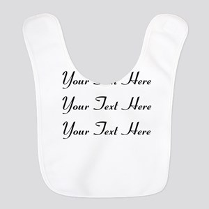 Customizable Personalized (Blac Polyester Baby Bib