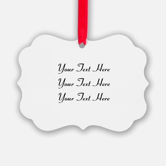 Customizable Personalized (Black Ornament
