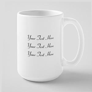 Customizable Personalized 15 oz Ceramic Large Mug