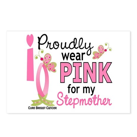I Wear Pink 27 Breast Cancer Postcards (Package of