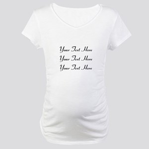 Customizable Personalized (Black Maternity T-Shirt