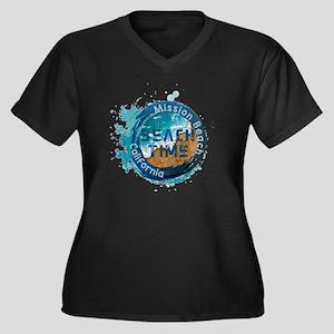 California - Mission Beach Plus Size T-Shirt