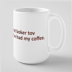 Boker Tov Large Mug