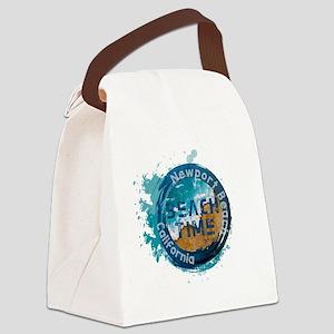 California - Newport Beach Canvas Lunch Bag