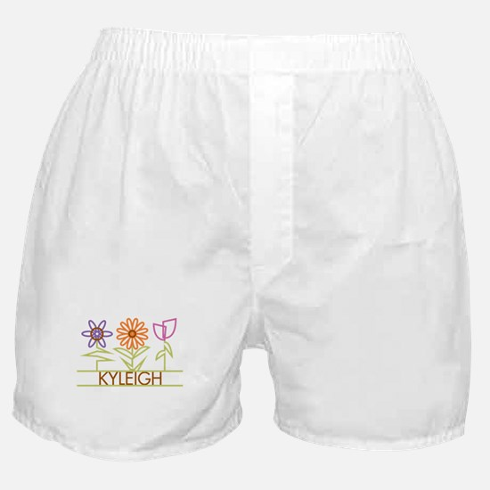 Kyleigh with cute flowers Boxer Shorts