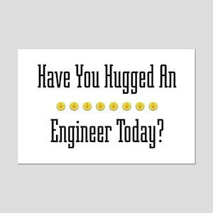 Hugged Engineer Mini Poster Print