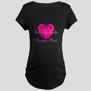 Registered Nurse IV Maternity Dark T-Shirt