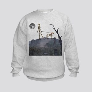 walk in the cemetery Kids Sweatshirt