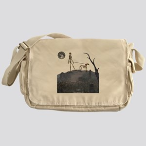 walk in the cemetery Messenger Bag