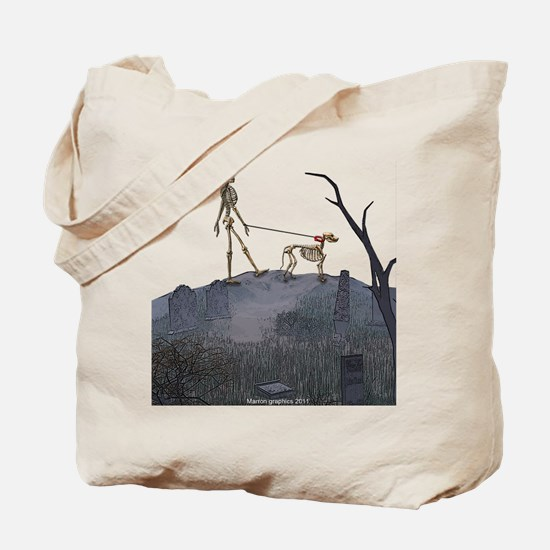 walk in the cemetery Tote Bag