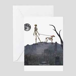 walk in the cemetery Greeting Card